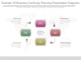 Example Of Business Continuity Planning Presentation Diagrams