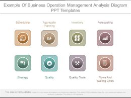 Example Of Business Operation Management Analysis Diagram Ppt Templates