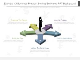 Example Of Business Problem Solving Exercises Ppt Background