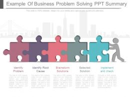 Example Of Business Problem Solving Ppt Summary