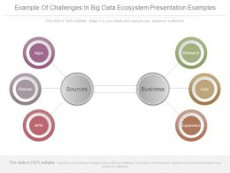 Example Of Challenges In Big Data Ecosystem Presentation Examples