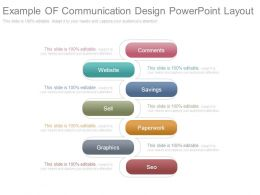 Example Of Communication Design Powerpoint Layout
