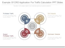Example Of Cro Application For Traffic Calculation Ppt Slides