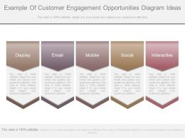 Example Of Customer Engagement Opportunities Diagram Ideas