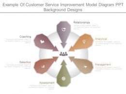 Example Of Customer Service Improvement Model Diagram Ppt Background Designs