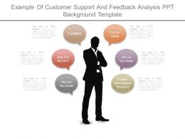 Example Of Customer Support And Feedback Analysis Ppt Background Template