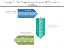Example Of Data Quality Analysis Process Ppt Powerpoint Templates