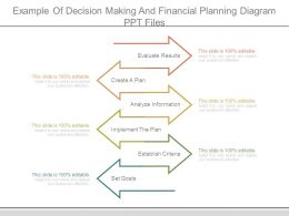 Example Of Decision Making And Financial Planning Diagram Ppt Files