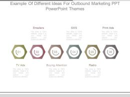 Example Of Different Ideas For Outbound Marketing Ppt Powerpoint Themes