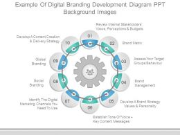 Example Of Digital Branding Development Diagram Ppt Background Images
