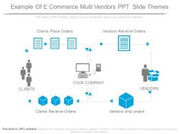 Example Of E Commerce Multi Vendors Ppt Slide Themes