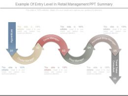 Example Of Entry Level In Retail Management Ppt Summary
