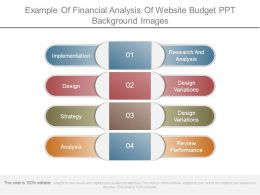 Example Of Financial Analysis Of Website Budget Ppt Background Images