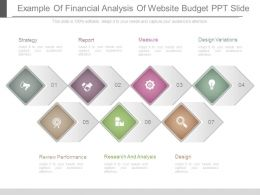 Example Of Financial Analysis Of Website Budget Ppt Slide