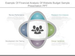 Example Of Financial Analysis Of Website Budget Sample Presentation Ppt