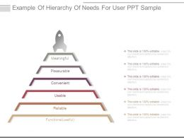 Example Of Hierarchy Of Needs For User Ppt Sample
