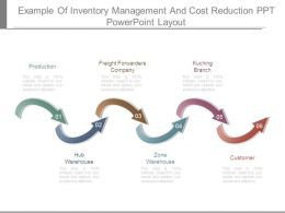 Example Of Inventory Management And Cost Reduction Ppt Powerpoint Layout