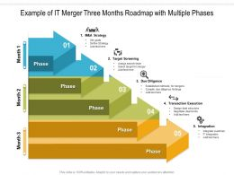 Example Of IT Merger Three Months Roadmap With Multiple Phases