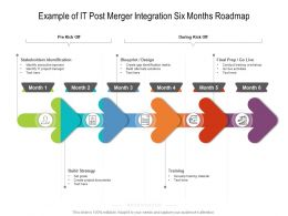 Example Of IT Post Merger Integration Six Months Roadmap