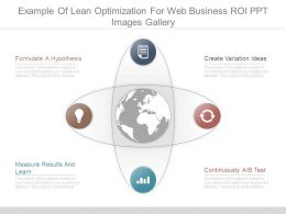 Example Of Lean Optimization For Web Business Roi Ppt Images Gallery