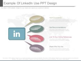 Example Of Linkedln Use Ppt Design