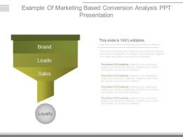 Example Of Marketing Based Conversion Analysis Ppt Presentation
