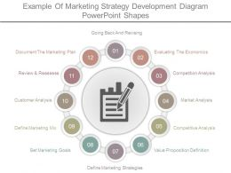 Example Of Marketing Strategy Development Diagram Powerpoint Shapes