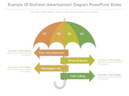 Example Of Multilevel Advertisement Diagram Powerpoint Slides