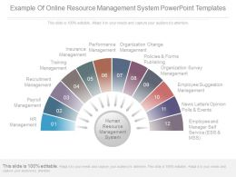 Example Of Online Resource Management System Powerpoint Templates