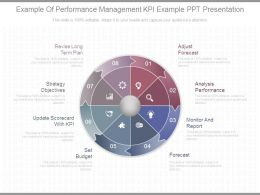 Example Of Performance Management Kpi Example Ppt Presentation