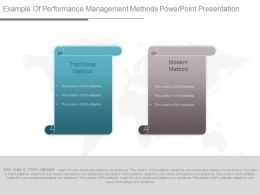 Example Of Performance Management Methods Powerpoint Presentation