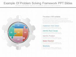 Example Of Problem Solving Framework Ppt Slides
