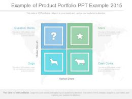 Example Of Product Portfolio Ppt Example 2015
