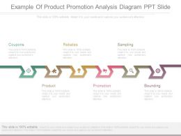 Example Of Product Promotion Analysis Diagram Ppt Slide