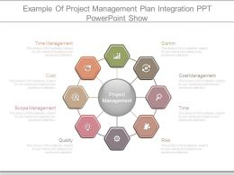 Example Of Project Management Plan Integration Ppt Powerpoint Show