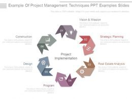 Example Of Project Management Techniques Ppt Examples Slides