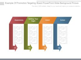 Example Of Promotion Targeting Board Powerpoint Slide Background Picture