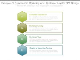 Example Of Relationship Marketing And Customer Loyalty Ppt Design