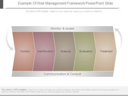 Example Of Risk Management Framework Powerpoint Slide