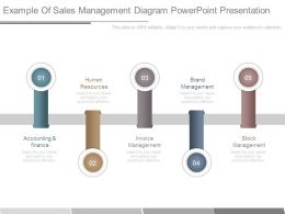 Example Of Sales Management Diagram Powerpoint Presentation