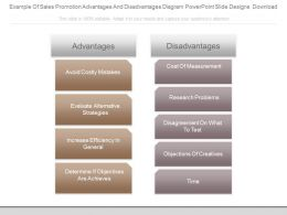 Example Of Sales Promotion Advantages And Disadvantages Diagram Powerpoint Slide Designs Download