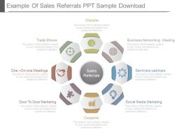 Example Of Sales Referrals Ppt Sample Download