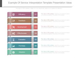 Example Of Service Interpretation Template Presentation Ideas