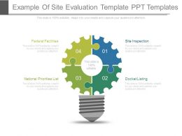Example Of Site Evaluation Template Ppt Templates