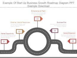 Example Of Start Up Business Growth Roadmap Diagram Ppt Example Download