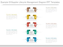 Example Of Supplier Lifecycle Management Diagram Ppt Templates