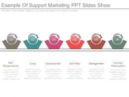 Example Of Support Marketing Ppt Slides Show