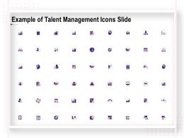 Example Of Talent Management Icons Slide Ppt Powerpoint Presentation Show