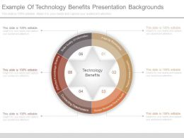 Example Of Technology Benefits Presentation Backgrounds