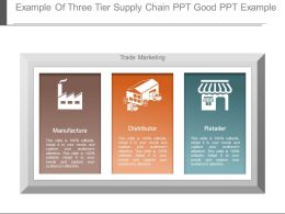Example Of Three Tier Supply Chain Ppt Good Ppt Example